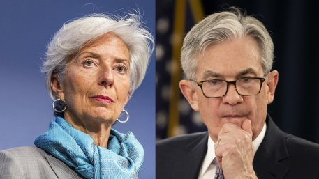 Christine Lagarde and Jerome Powell