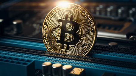 Cryptocurrency golden bitcoin coin