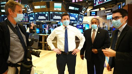 Pit Traders At the New York Stock Exchange