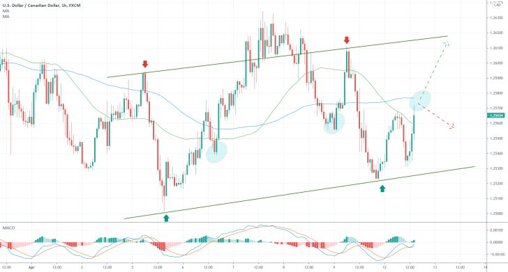 The price of the USDCAD continues to rise in a new bullish trend. The MACD indicator demonstrates growing bullish momentum