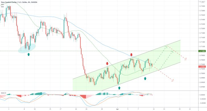 The NZDUSD is expected to continue developing a major downtrend after a minor bullish correction is completed