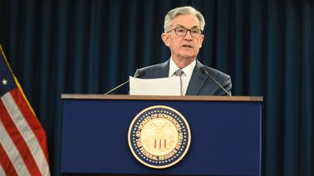 FOMC Chair Powell answers a reporter's question at the March 3, 2020 press conference.