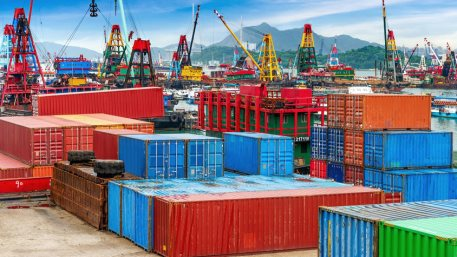 Chinese industrial port