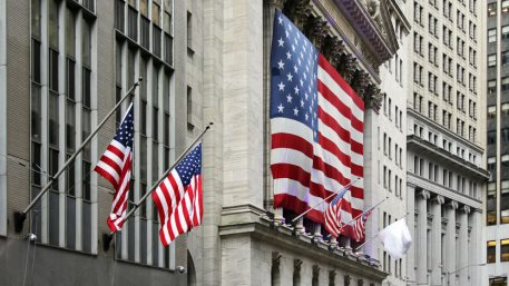 New York Stock Exchange building at Wall Street, Manhattan, NYC