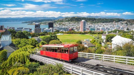 Wellington Cable Car, the landmark of New Zealand.