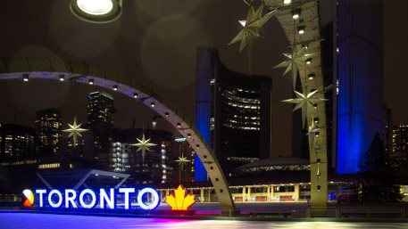 Toronto, Canada. Empty Old Toronto City Hall at Nathan Phillips Square