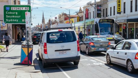 Melbourne Gridlock Traffic as Lockdown is Lifted During Coronavirus Pandemic. Unemployment in Australia fell to its lowest in a year